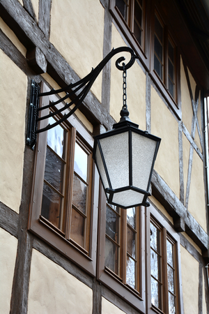 Lantern in the old town of Wernigerode photo