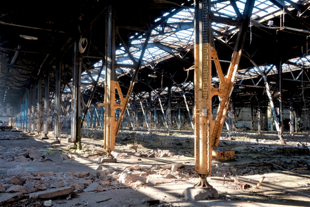 devastated: in a disused factory