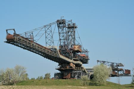 overburden: Excavator in the disused lignite opencast Ferropolis
