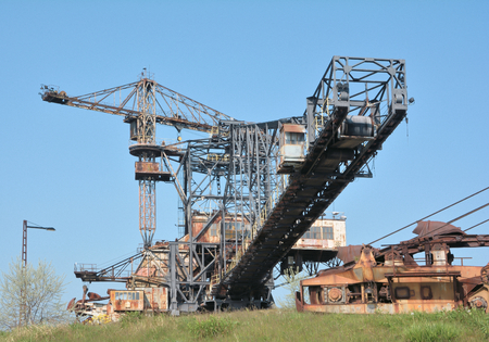 giant excavator in the disused lignite opencast Ferropolis