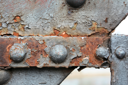 Rust on the steel construction of a bridge Standard-Bild