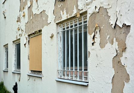 bauf�lligen leeren Fabrikgeb�ude im Zentrum von Magdeburg