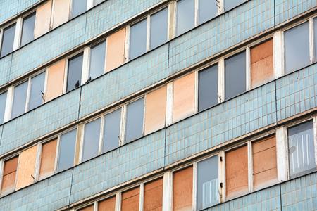 vervallen leegstaand huis in het centrum van Magdeburg