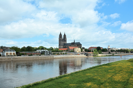 View of Magdeburg and Magdeburg Cathedral photo