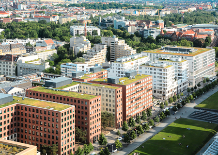 property berlin: modern district of Berlin from a bird s perspective