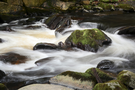 bode: the romantic mountain stream Bode in the Harz National Park Stock Photo