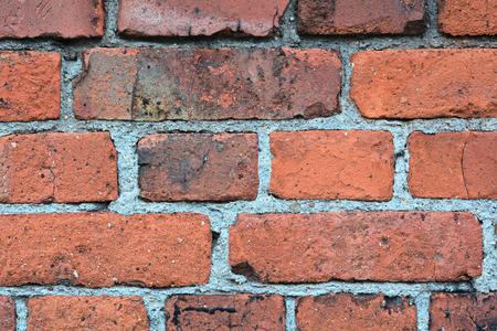 Mauerwerk aus Ziegelsteinen auf einem historischen Geb�ude aus