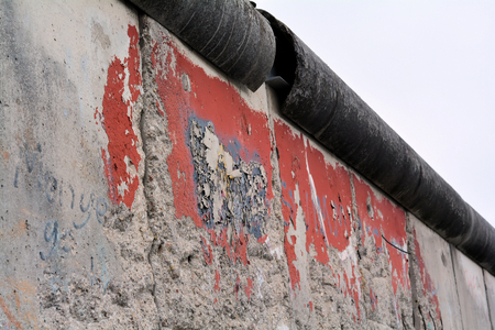 insurmountable: Remains of the Berlin Wall in the city center of Berlin