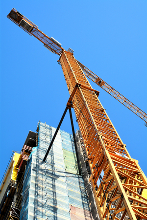 economic activity: cranes on a construction site in the center of Berlin Editorial