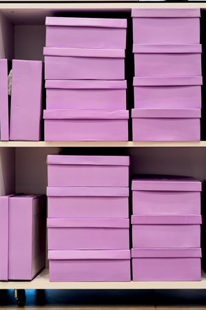 shoe boxes: pink shoe boxes