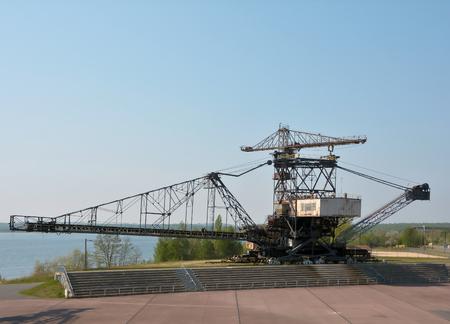 overburden: gigantic excavator in the disused lignite opencast Ferropolis