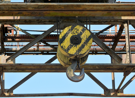 industrialized: crane hook in the disused lignite opencast Ferropolis