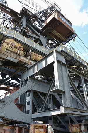 Detail of a gigantic excavator in the disused lignite opencast Ferropolis Stock Photo