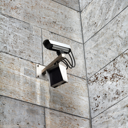 counter terrorism: video surveillance at the Finance Ministry in Berlin Stock Photo