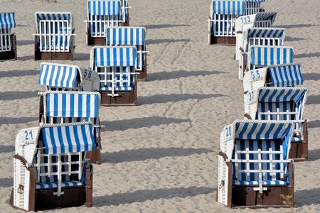 beach chairs: beach chairs on the beach of the Baltic Sea in Heiligendamm