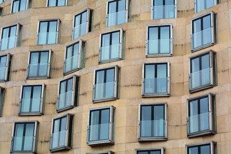 many windows: facade with many windows in Berlin