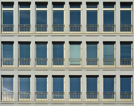 windowpane: windows of an office building in Berlin Stock Photo