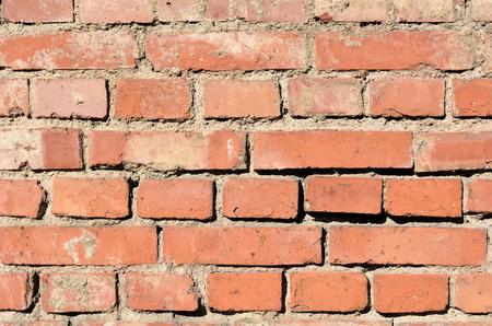 botch: facade of an old house made of bricks