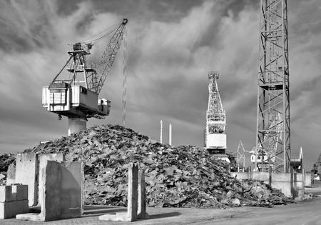 scrapheap: Scrap yard in the port of Magdeburg