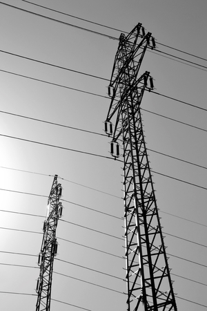 mortal danger: power pole in a suburb of Prague