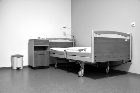 sickroom: empty bed in a hospital