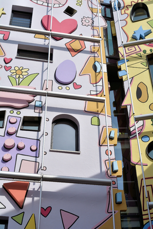 abstractly: Braunschweig, Germany - April 11, 2015: the Happy Rizzi House in the city center of Braunschweig Editorial