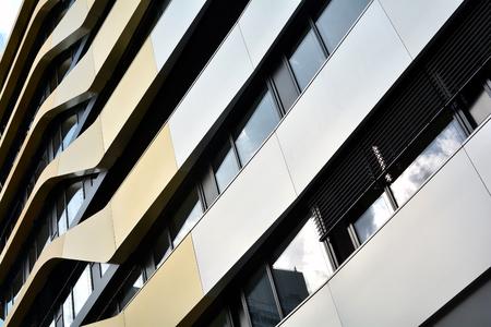 Gevel van het kantoorgebouw in het centrum van Berlijn Stockfoto