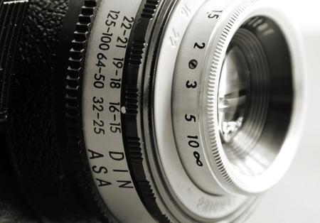 Nostalgic Old miniature camera from GDR production Imagens - 42460417