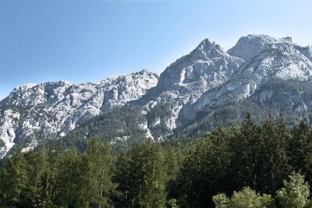 rockclimbing: Alpine landscape in Lungau in Austria Stock Photo