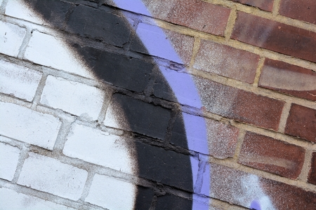 bedaubed: Detail of a graffiti on a wall Editorial