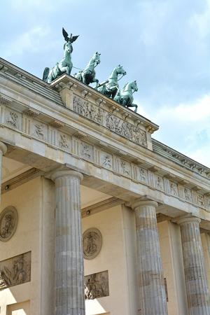 brandenburg gate: the Brandenburg Gate, the landmark of Berlin