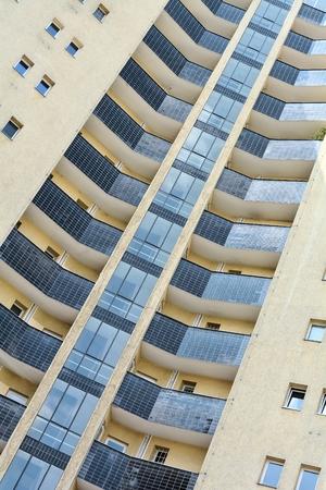 rented: Facade of a skyscraper in downtown Berlin
