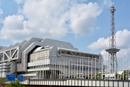 messe: The International Congress Center and the radio tower in Berlin