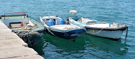 fishing fleet: Fishing boats in the port of Rovinj in Croatia