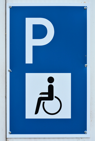 handicapped accessible: sign for a Handicapped Parking Stock Photo