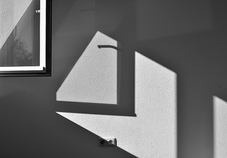 incidence: shadow effect by incident light at the window