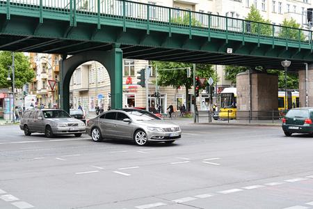 hectic life: BERLIN, GERMANY - MAY 20, 2015: street scene in the Prenzlauer Berg district in Berlin Editorial