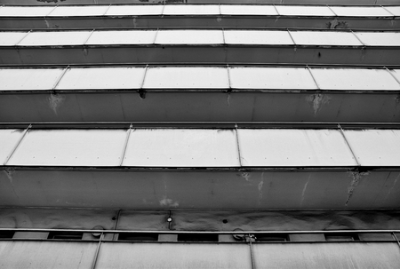 decrepitude: facade of a dilapidated apartment building in downtown Berlin Stock Photo