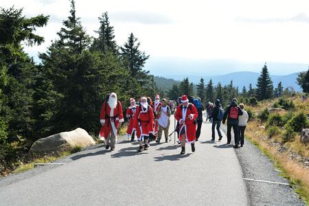 brocken: BROCKEN, GERMANY - September 24, 2015: Santas on top of the Brocken in the Harz National Park Editorial