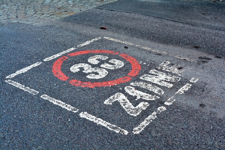 kph: speed limit on a road in the Harz National Park