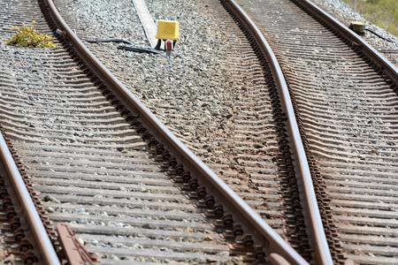 dangerously: railroad tracks at the train station of Bad Doberan