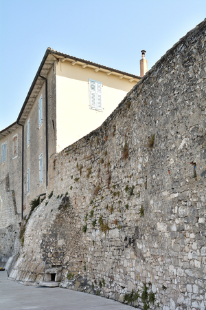 building sector: historic buildings in the old town of Porec in Croatia
