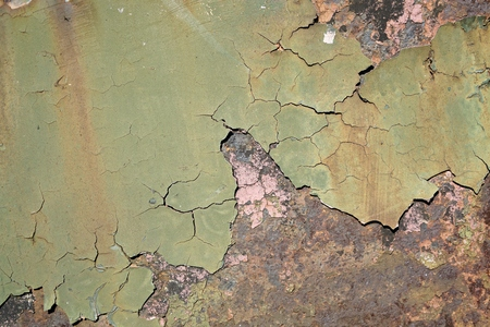 decompose: rust on an old railway wagon in the harbor of Magdeburg of