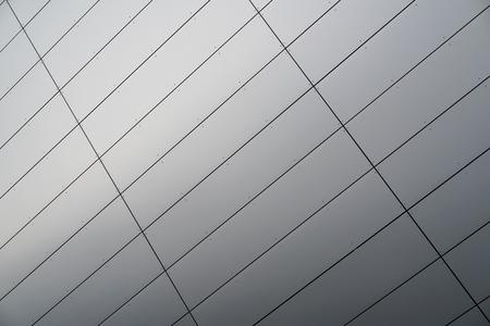 aluminium gevel van een kantoorgebouw Stockfoto