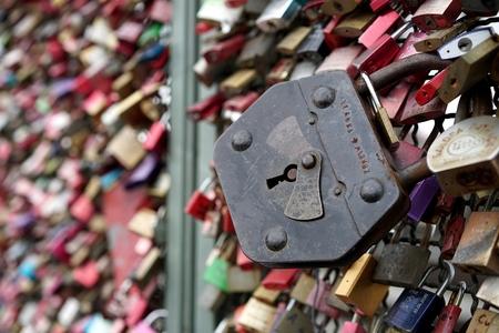 inseparable: padlocks of loving couples on the Hohenzollern Bridge in Cologne