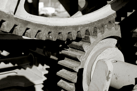 Gears of an old historic machine