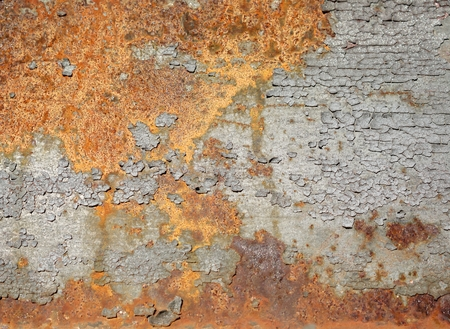 decompose: rust on the steel structure of a bridge Stock Photo