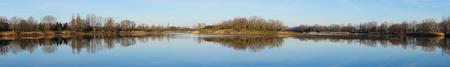 �tree: Panorama of the lake near Magdeburg Salbker