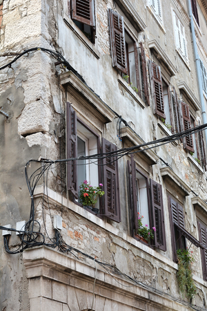 concluded: old house in the historic center of Pula in Croatia