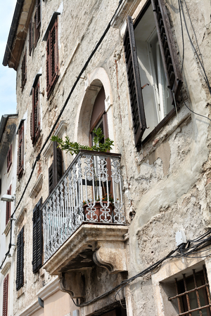 old house in the historic center of Pula in Croatia